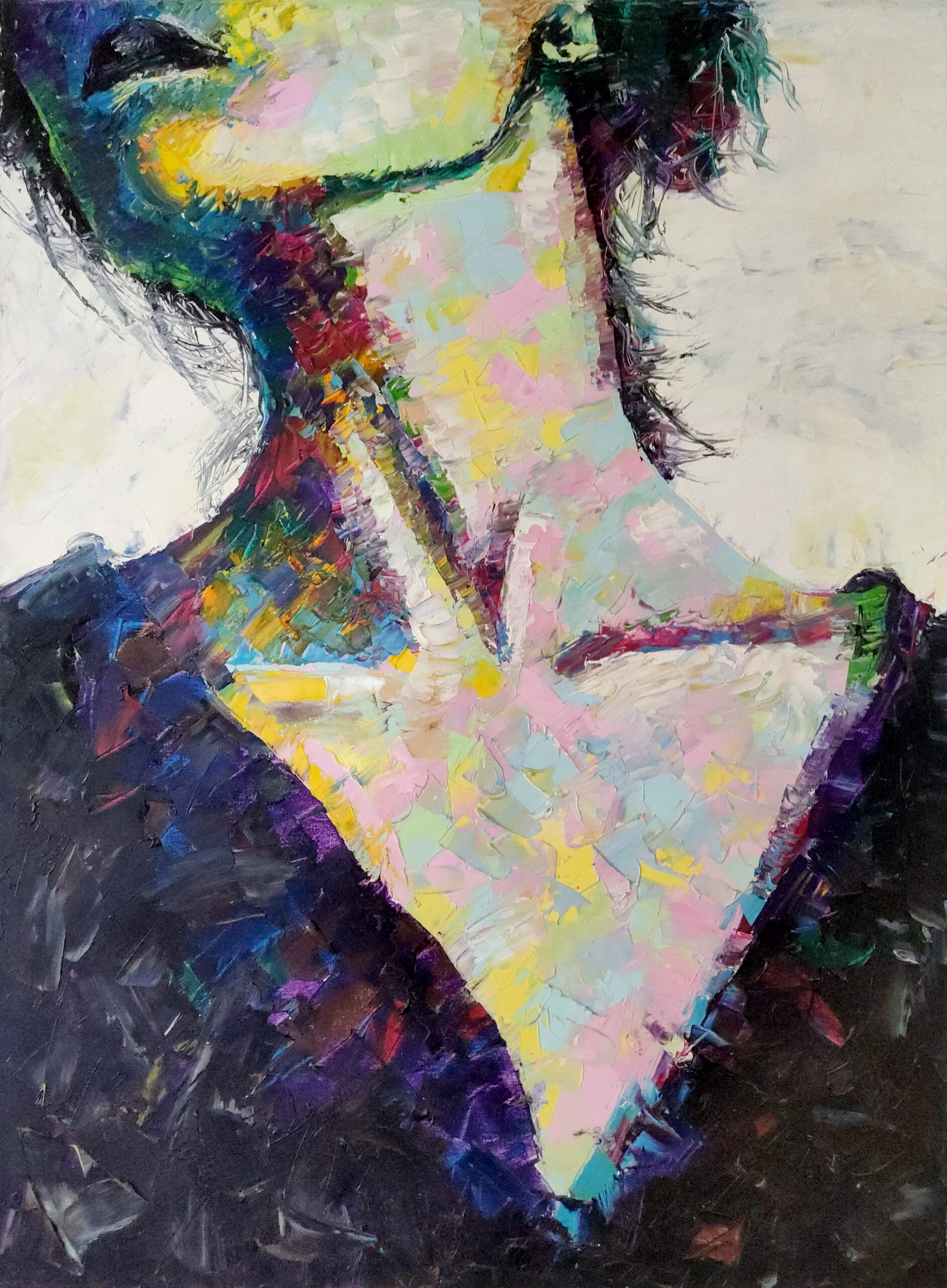 Expressionist oil painting of a woman by Rob Grams Professional Bohemian