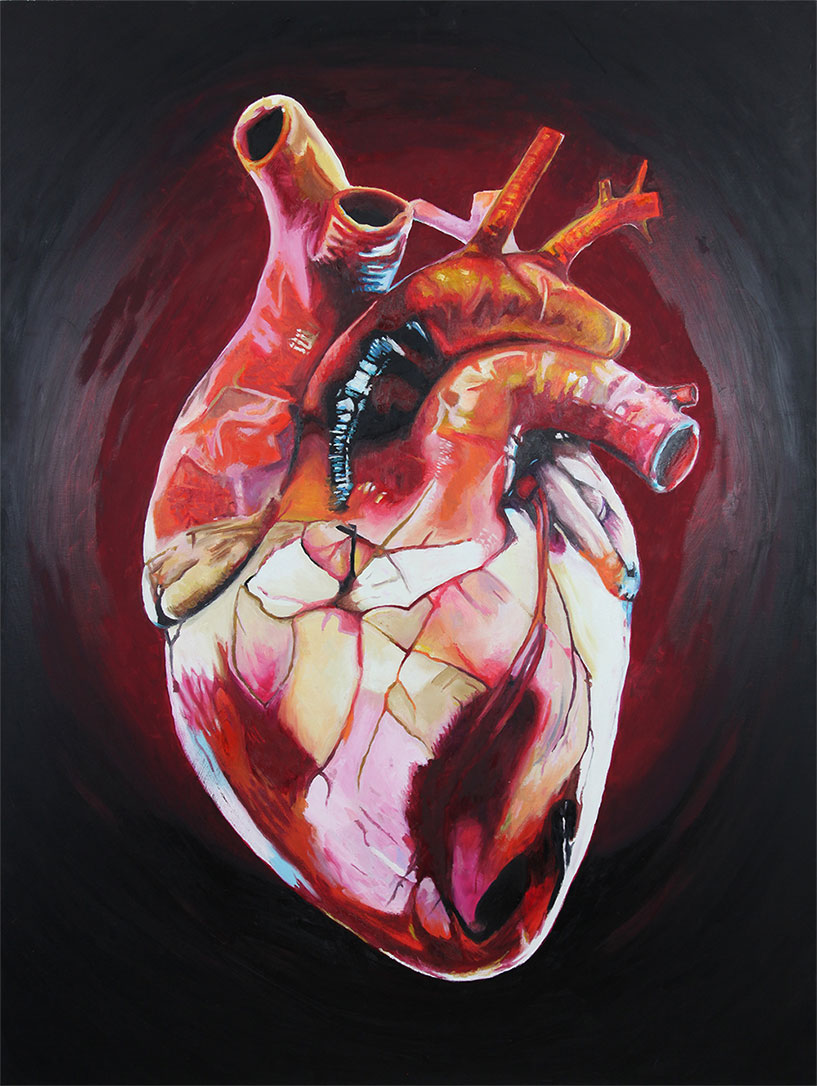 Heart (2018) oil on canvas by Rob Grams Professional Bohemian