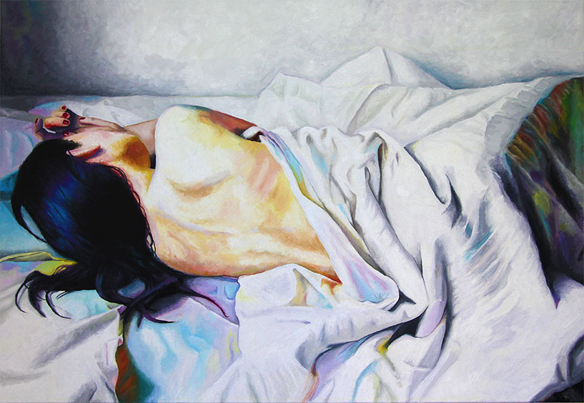 Sleeping Woman (2018) oil on canvas by Rob Grams Professional Bohemian